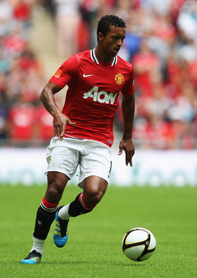 LONDON, ENGLAND - AUGUST 07:  Luis Nani of Manchester United in action during the FA Community Shield match sponsored by McDonald's between Manchester City and Manchester United at Wembley Stadium on August 7, 2011 in London, England.  (Photo by Clive Ros