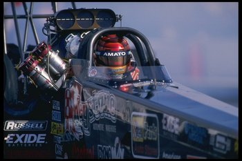 4 Feb 1996:  Joe Amato performs during the NHRA Winternationals held at Pomona Dragway in California. Mandatory Credit: Jamie Squire  /Allsport