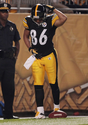 PITTSBURGH - AUGUST 18:  Hines Ward #86 of the Pittsburgh Steelers celebrates by dancing in the endzone after scoring a touchdown against the Philadelphia Eagles in the first half during the preseason game on August 18, 2011 at Heinz Field in Pittsburgh,