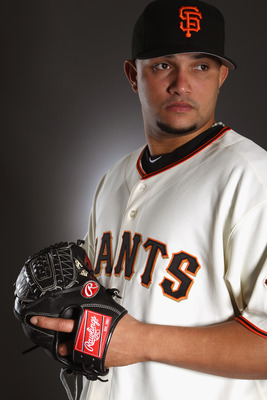 SCOTTSDALE, AZ - FEBRUARY 23:  Waldis Joaquin #60 of the San Francisco Giants poses for a portrait during media photo day at Scottsdale Stadium on February 23, 2011 in Scottsdale, Arizona.  (Photo by Ezra Shaw/Getty Images)