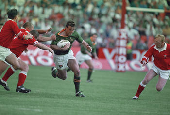 Ruben Kruger in action against Wales.