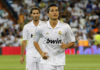 MADRID, SPAIN - AUGUST 24: Nuri Sahin of Real Madrid looks on prior of the Santiago Bernabeu Trophy match between Real Madrid and Galatasaray at Estadio Santiago Bernabeu on August 24, 2011 in Madrid, Spain. (Photo by Angel Martinez/Getty Images)