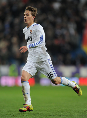MADRID, SPAIN - MARCH 03:  Sergio Canales of Real Madrid in action during the la Liga match between Real Madrid and Malaga at Estadio Santiago Bernabeu on March 3, 2011 in Madrid, Spain.  (Photo by Jasper Juinen/Getty Images)