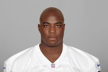 IRVING, TX - 2007:  DeMarcus Ware of the Dallas Cowboys poses for his 2007 NFL headshot at photo day in Irving, Texas.  (Photo by Getty Images)