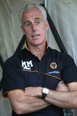 NORTHAMPTON, ENGLAND - AUGUST 23:  Wolverhampton Wanderers manager Mick McCarthy looks on prior to the Carling Cup 2nd Round match between Northampton Town and Wolverhampton Wanderers at Sixfields Stadium on August 23, 2011 in Northampton, England.  (Phot