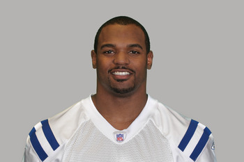 INDIANAPOLIS, IN - CIRCA 2010:  In this handout photo provided by the NFL,  Dwight Freeney of the Indianapolis Colts poses for his 2010 NFL headshot circa 2010 in Indianapolis, Indiana.  (Photo by NFL via Getty Images)