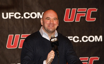 NEW YORK, NY - JANUARY 13:  Dana White, UFC President, speaks during a press conference to announce commitment to bring UFC to Madison Square Garden and New York State at Madison Square Garden on January 13, 2011 in New York City.  (Photo by Michael Cohen