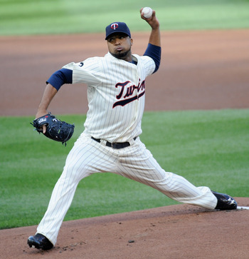 MINNEAPOLIS, MN - AUGUST 20: Francisco Liriano #47 of the Minnesota Twins delivers a pitch against the New York Yankees in the first inning on August 20, 2011 at Target Field in Minneapolis, Minnesota. (Photo by Hannah Foslien/Getty Images)