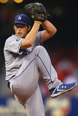 ST. LOUIS, MO - AUGUST 23: Starter Clayton Kershaw #22 pitches against St. Louis Cardinals at Busch Stadium on August 23, 2011 in St. Louis, Missouri.  (Photo by Dilip Vishwanat/Getty Images)