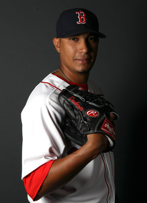 FT. MYERS, FL - FEBRUARY 20:  Felix Doubront #61 of the Boston Red Sox poses for a portrait during the Boston Red Sox Photo Day on February 20, 2011 at the Boston Red Sox Player Development Complex in Ft. Myers, Florida  (Photo by Elsa/Getty Images)