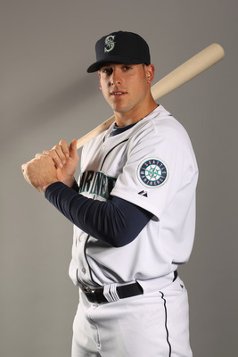 PEORIA, AZ - FEBRUARY 20:  Alex Liddi #63 of the Seattle Mariners poses for a portrait at the Peoria Sports Complex on February 20, 2011 in Peoria, Arizona.  (Photo by Ezra Shaw/Getty Images)
