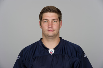 CHICAGO, IL - CIRCA  2010: In this handout image provided by the NFL,  Jay Cutler of the Chicago Bears poses for his 2010 NFL headshot circa 2010 in Chicago, Illinois. (Photo by NFL via Getty Images)
