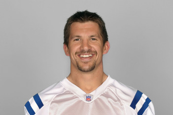 INDIANAPOLIS, IN - CIRCA 2010:  In this handout photo provided by the NFL,  Dallas Clark of the Indianapolis Colts poses for his 2010 NFL headshot circa 2010 in Indianapolis, Indiana.  (Photo by NFL via Getty Images)