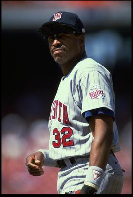 12 MAY 1993:  A CANDID PORTRAIT OF MINNESOTA TWINS OUTFIELDER DAVE WINFIELD DURING THE TWINS VERSUS CALIFORNIA ANGELS GAME AT ANAHEIM STADIUM IN ANAHEIM, CALIFORNIA.  MANDATORY CREDIT:  STEPHEN DUNN/ALLSPORT USA