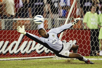 WASHINGTON - JULY 23:  David Yelldell of Blackburn Rovers makes a save during the Pre-Season Friendly match between DC United and Blackburn Rovers held on July 23, 2003 at the RFK Stadium, in Washington DC. The match ended in a 1-1 draw, DC United won the