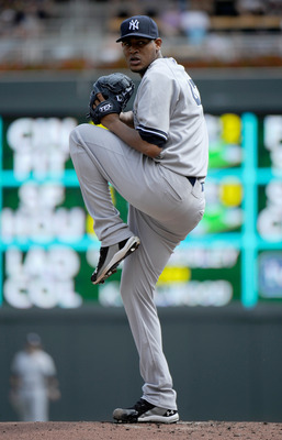 MINNEAPOLIS, MN - AUGUST 21: Ivan Nova #47 of the New York Yankees delivers a pitch against the Minnesota Twins in the first inning on August 21, 2011 at Target Field in Minneapolis, Minnesota. The Yankees defeated the Twins 3-0. (Photo by Hannah Foslien/