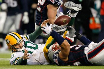 Banta-Cain forced a strip-sack to seal the Packers-Patriots matchup last year.