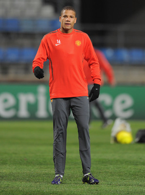 MARSEILLE, FRANCE - FEBRUARY 22:  Bebe warms up during the Manchester United training session ahead of the UEFA Champions League round of 16 first leg match against Marseille at the Stade Velodrome on February 22, 2011 in Marseille, France.  (Photo by Mic