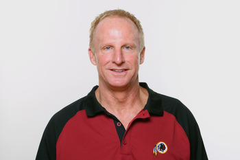 WASHINGTON, DC - CIRCA 2010:  In this photo provided by the NFL, Jim Haslett of the Washington Redskins poses for his 2010 NFL headshot circa 2010 in Washington, DC.  (Photo by NFL via Getty Images)