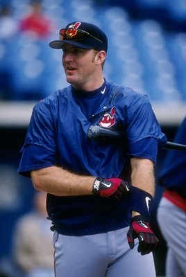 26 May 1997:  Jim Thome of the Cleveland Indians during batting practice for the Indians 10-4 win  over the Chicago White Sox at Comiskey Park in Chicago, Illinois. Mandatory Credit: Jonathan Daniel  /Allsport