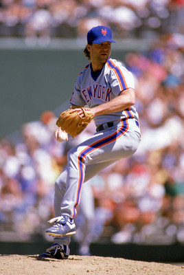 1989: Roger McDowell of the New York Mets winds back to pitch during a game in the 1989 season. (Photo by: Getty Images/Getty Images