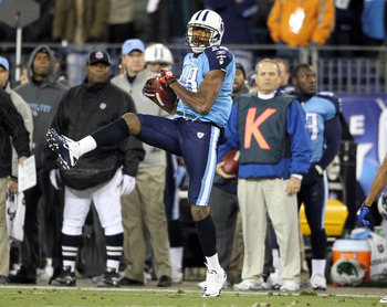 NASHVILLE, TN - DECEMBER 09:  Kenny Britt #18 of the Tennessee Titans catches a pass during the NFL game against the Indianapolis Colts at LP Field on December 9, 2010 in Nashville, Tennessee.  (Photo by Andy Lyons/Getty Images)