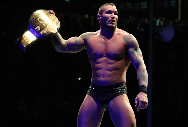 DURBAN, SOUTH AFRICA - JULY 08:  World Heavyweight Champion Randy Orton during the WWE Smackdown Live Tour at Westridge Park Tennis Stadium on July 08, 2011 in Durban, South Africa.  (Photo by Steve Haag/Gallo Images/Getty Images)