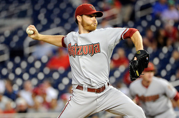 WASHINGTON, DC - AUGUST 23:  Ian Kennedy #31 of the Arizona Diamondbacks pitches against the Washington Nationals at Nationals Park on August 23, 2011 in Washington, DC.  (Photo by Greg Fiume/Getty Images)
