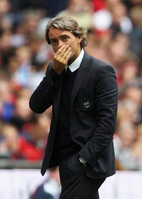Roberto Mancini has been frustrating to City supporters with his defensive minded tactics