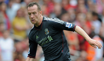 LONDON, ENGLAND - AUGUST 20:  Charlie Adam of Liverpool with the ball during the Barclays Premier League match between Arsenal and Liverpool at the Emirates Stadium on August 20, 2011 in London, England.  (Photo by Michael Regan/Getty Images)