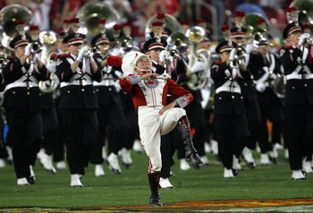GLENDALE, AZ - JANUARY 08:  The Ohio State Buckeyes marching band performs on the field before the 2007 Tostitos BCS National Championship Game against the Florida Gators at the University of Phoenix Stadium on January 8, 2007 in Glendale, Arizona.  (Phot