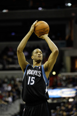 WASHINGTON, DC - MARCH 05:  Anthony Randolph #15 of the Minnesota Timberwolves shoots a free throw against the Washington Wizards at the Verizon Center on March 5, 2011 in Washington, DC. NOTE TO USER: User expressly acknowledges and agrees that, by downl