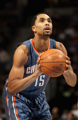 DENVER, CO - MARCH 02:  Gerald Henderson #15 of the Charlotte Bobcats takes a free throw against the Denver Nuggets at the Pepsi Center on March 2, 2011 in Denver, Colorado. The Nuggets defeated the Bobcats 120-80.NOTE TO USER: User expressly acknowledges