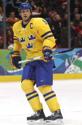 VANCOUVER, BC - FEBRUARY 24:  Nicklas Lidstrom #5 of Sweden on the ice in the third period during the ice hockey men's quarter final game between Sweden and Slovakia on day 13 of the Vancouver 2010 Winter Olympics at Canada Hockey Place on February 24, 20