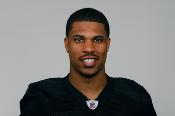 OAKLAND, CA - CIRCA 2010: In this handout image provided by the NFL,  Jason Campbell of the Oakland Raiders poses for his 2010 NFL headshot circa 2010 in Oakland, California. (Photo by NFL via Getty Images)