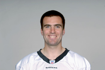 BALTIMORE, MD - CIRCA 2010:  In this handout image provided by the NFL , Joe Flacco of the Baltimore Ravens poses for his 2010 NFL headshot circa 2010 in Baltimore, Maryland.  ( Photo by NFL via Getty Images)