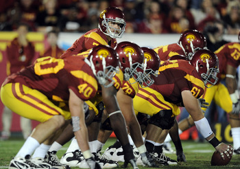 Junior third year starting QB Matt Barkley leads the USC offense