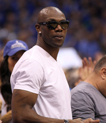 DALLAS, TX - JUNE 05:  Terrell Owens attends Game Three of the 2011 NBA Finals between the Dallas Mavericks and the Miami Heat at American Airlines Center on June 5, 2011 in Dallas, Texas.  NOTE TO USER: User expressly acknowledges and agrees that, by dow
