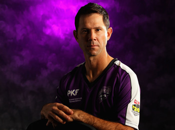 COOLUM BEACH, AUSTRALIA - JULY 24:  Ricky Ponting of the Hobart Hurricanes poses for a portrait ahead of the launch of the KFC T20 Big Bash League on July 24, 2011 in Coolum Beach, Australia.  (Photo by Chris Hyde/Getty Images)