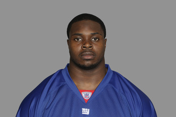 EAST RUTHERFORD, NJ - CIRCA 2010: In this handout image provided by the NFL, Dwayne Hendricks of the New York Giants poses for his 2010 NFL headshot circa 2010 in East Rutherford, New Jersey. (Photo by NFL via Getty Images)