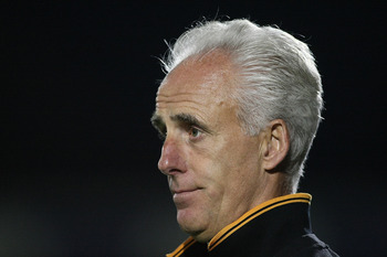 NORTHAMPTON, ENGLAND - AUGUST 23:  Wolverhampton Wanderers manager Mick McCarthy looks on during the Carling Cup 2nd Round match between Northampton Town and Wolverhampton Wanderers at Sixfields Stadium on August 23, 2011 in Northampton, England.  (Photo
