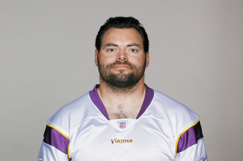 EDEN PRAIRIE, MN - CIRCA 2010:  In this handout image provided by the NFL,  Jim Kleinsasser poses for his 2010 NFL headshot circa 2010 in Eden Prairie, Minnesota.   (Photo by NFL via Getty Images)