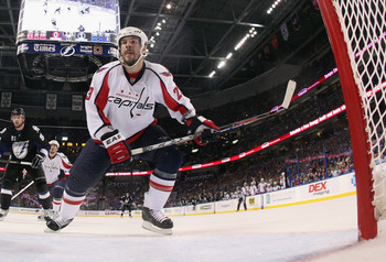 TAMPA, FL - MAY 03: Scott Hannan #23 of the Washington Capitals skates against the Tampa Bay Lightning in Game Three of the Eastern Conference Semifinals during the 2011 NHL Stanley Cup Playoffs at St Pete Times Forum on May 3, 2011 in Tampa, Florida. The