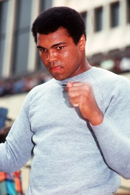 UNDATED:  MUHAMMAD ALI DURING A TRAINING SESSION. Mandatory Credit: Allsport UK/ALLSPORT