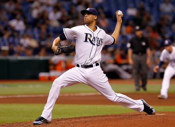 ST PETERSBURG, FL - AUGUST 23:  :  Pitcher David Price #14 of the Tampa Bay Rays pitches against the Detroit Tigers during the game at Tropicana Field on August 23, 2011 in St. Petersburg, Florida.  (Photo by J. Meric/Getty Images)