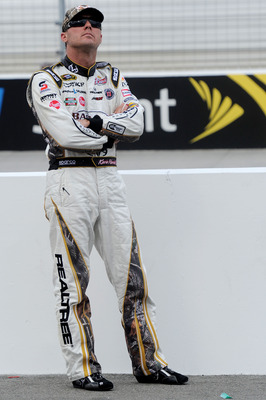 BRISTOL, TN - AUGUST 26:  Kevin Harvick, driver of the #29 Realtree/Bad Boy Buggies Chevrolet, looks on during qualifying for the NASCAR Sprint Cup Series IRWIN Tools Night Race at Bristol Motor Speedway on August 26, 2011 in Bristol, Tennessee.  (Photo b