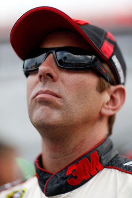 BRISTOL, TN - AUGUST 26:  Greg Biffle, driver of the #16 Roush Fenway Racing Ford, looks on during qualifying for the NASCAR Sprint Cup Series IRWIN Tools Night Race at Bristol Motor Speedway on August 26, 2011 in Bristol, Tennessee.  (Photo by Chris Gray