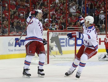 Brandon Dubinsky and Ryan Callahan Celebrate