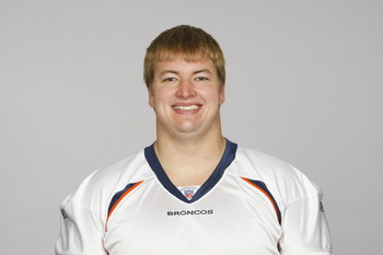 ENGLEWOOD, CO - CIRCA 2010: In this photo provided by the NFL, Seth Olsen of the Denver Broncos poses for his 2010 NFL headshot circa 2010 in Englewood, Colorado.  (Photo by NFL via Getty Images)