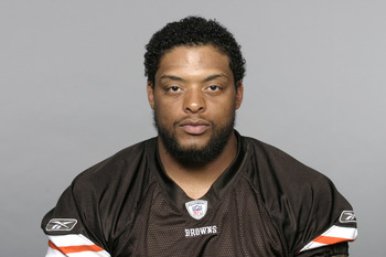 BEREA, OH - CIRCA 2010: In this handout image provided by the NFL,  Derreck Robinson of the Cleveland Browns  poses for his 2010 NFL headshot circa 2010 in Berea, Ohio. (Photo by NFL via Getty Images)